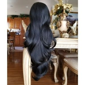 Black Layered Bodywave Lace Front Wig